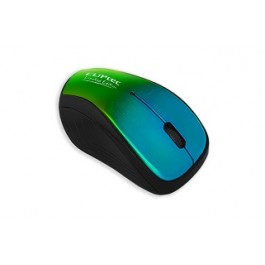 CLIPTEC RZS856S XILENT II WIRELESS SILENT MOUSE - GREEN/BLUE