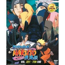 NARUTO SHIPPUDEN 火影忍者疾风传 VOL.221-720 END (25DVD)