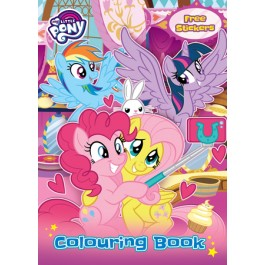 MY LITTLE PONY COLOURING BOOK SET(WITH STICKER & COLOUR PENCIL)