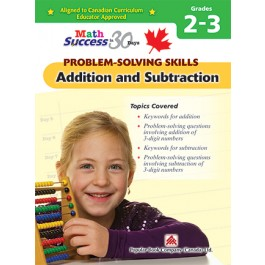 Grade 1 -2 Math Success Problem-solving Skills: Additional And Subtraction