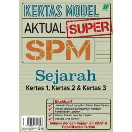 KERTAS MODEL AKTUAL SUPER SPM SEJARAH