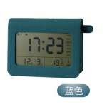 USB RECHARGEABLE ALARM CLOCK WITH LIGHT BLUE LJA-005