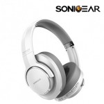 SONICGEAR AIRPHONE ANC3000 NOISE CANCELLING WIRELESS HEADPHONE WHITE GREY
