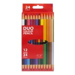 POP ARTZ 12'S 24 COLOURS TWINHEAD COLOURED PENCILS