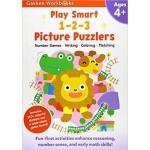 GAKKEN WORKBOOK:PS 1-2-3 PICTURE PUZZLERS 4+