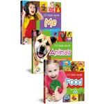 小寶貝的基礎100字:食物、我的世界、動物樂園(全套3冊+3CD)100BasicWordsaboutFood、Me、Animals