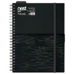 FOLDERMATE NEST SERIES SPIRAL NOTE BOOK A5 - BLACK