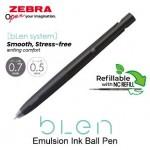 ZEBRA BLEN BALL PEN 0.7MM BLACK