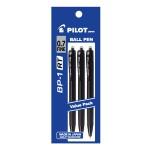 PILOT BP-1RT Ball Pen Fine 3 Black (3 Pieces in Pack)