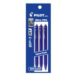 PILOT BP-1RT Ball Pen Fine Blue (3 Pieces in Pack)