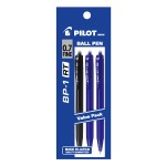 PILOT BP-1RT Ball Pen Fine 2 Blue 1 Black (3 Pieces in Pack)
