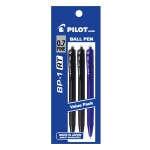 PILOT BP-1RT Ball Pen Fine 2 Black 1 Blue (3 Pieces in Pack)