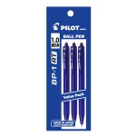 PILOT BP-1RT Ball Pen Medium Blue (3 Pieces in Pack)