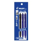 PILOT BP-1RT Ball Pen Medium 2 Blue 1 Black (3 Pieces in Pack)