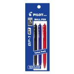 PILOT BP-1RT Ball Pen Fine Assorted Colour (3 Pieces in Pack)