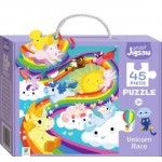 HINKLER JUNIOR JIGSAW PUZZLE UNICORN RACE 45PCS