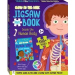 HINKLER 150PCS GLOW IN DARK JIGSAW AND BOOK  HUMAN BODY