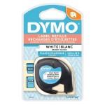 DYMO LETRATAG TAPE - PLASTIC, WHITE