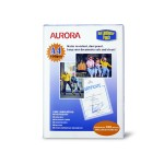 AURORA LAMINATING POUCH A4 100 SHEETS
