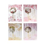 PLATED HOLLOW BOOKMARK W/ CARD TR-BA01251 (ASSORTED DESIGNS)