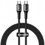 BASEUS CATGH-I01 TYPE-C TO TYPE-C PD CABLE 60W 50CM BLACK