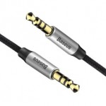 BASEUS CAM30-BS1 AUX TO AUX AUDIO CABLE 1METRE SILVER/BLACK