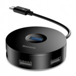 BASEUS CAHUB-G01 TYPE-C TO USB3+3USB HUB 25CM BLACK