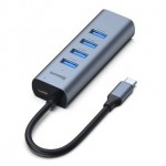 BASEUS CAHUB-Q0G TYPE-C TO 4USB3+PD HUB GREY