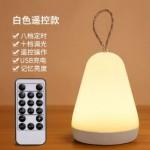 SILICONE LED LAMP+REMOTE CONTROL WHITE LJC-131