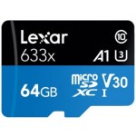 LEXAR MICROSD CARD 64GB 633X 95MB/S