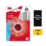 3M SCOTCH CLEAR PERMANENT MOUNTING TAPE (21MM X 2M) (1 ROLL/PCK)