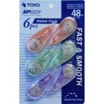 TOYO SPEEDY CORRECTION TAPE 5MMX 8m 6PCS