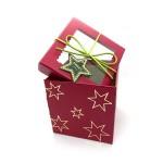 CHRISTMAS GIFT BOX- RED 11.4*11.4*11.4CM