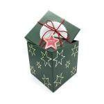 CHRISTMAS GIFT BOX- GREEN 11.4*11.4*11.4CM