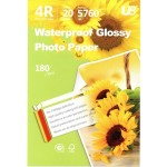 U8 4R GLOSSY PAPER 180GSM (20 sheets)