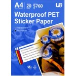U8 A4 PEARL WHITE STICKER 210GSM (20sheets)