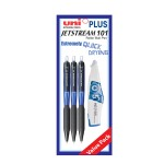 UNI Jetstream 101 Retractable Roller Ball Pen Value Pack 0.5mm Blue