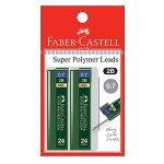 FABER-CASTELL Super Polymer Lead 2B 0.7mm 20 leads x 2 Pieces in Pack