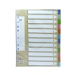 POP BAZIC PP INDEX DIVIDER A4 12 COLOURS 12 SHEETS
