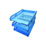 POP BAZIC 3 TIER LETTER TRAY BLUE