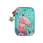 MULTI-FUNCTIONAL EVA DAZZLING ZIPPER CASE (BIG)- ROSE UNICORN 9081-10