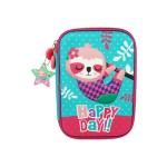 MULTI-FUNCTIONAL EVA DAZZLING ZIPPER CASE (BIG)- HAPPY DAY SLOTH 9081-11