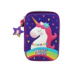 MULTI-FUNCTIONAL EVA DAZZLING ZIPPER CASE (BIG)- RAINBOW UNICORN 9081-12