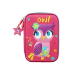 MULTI-FUNCTIONAL EVA DAZZLING ZIPPER CASE (BIG)- OWL 9081-18