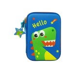MULTI-FUNCTIONAL EVA DAZZLING ZIPPER CASE (BIG)- HELLO DINASOUR 9081-22