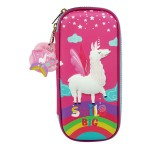 MULTI-FUNCTIONAL EVA DAZZLING ZIPPER CASE (SMALL)- FLYING UNICORN 9080-13