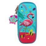 MULTI-FUNCTIONAL EVA DAZZLING ZIPPER CASE (SMALL)- FLAMINGO 9080-14