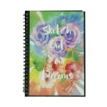 POP ARTZ SKETCH BOOK A4 125 GSM 60 SHEETS PA-POC60-FLOWER