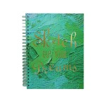 POP ARTZ HARD COVER SKETCH BOOK A4 125 GSM 60 SHEETS PA-HCS60-GREEN