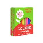 COLOURED CANDLES (24PCS)